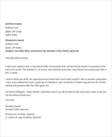Sample Farewell Letter to Colleague - 5+ Free Documents in Word, PDF
