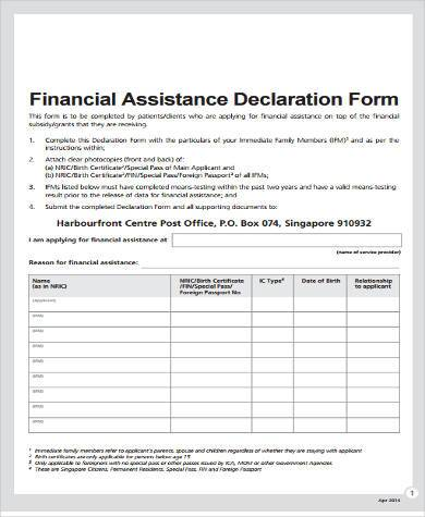 Sample Financial Assistance Forms - 8+ free Documents in Word, PDF