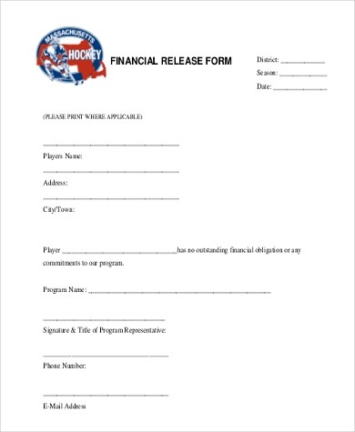 Release Form Samples - 9+ Free Documents in PDF - financial release form