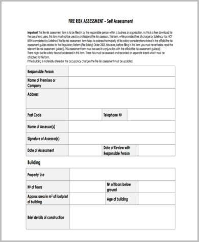 Sample Risk Assessment Review Forms - 7+ Free Documents in Word, PDF