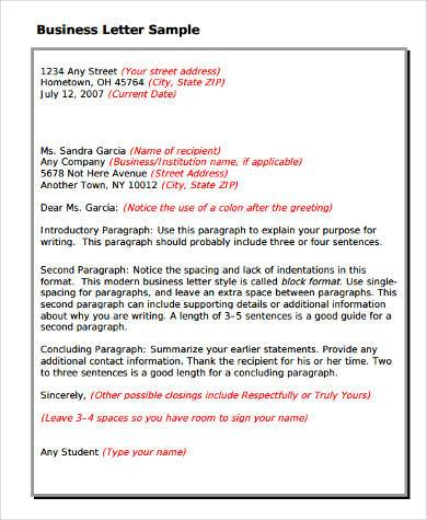 Sample Business Letter Forms - 8+ Free Documents in Word, PDF