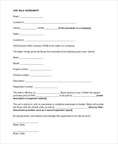 Car Sales Contract  EnvResumeCloudInterhostsolutionsBe