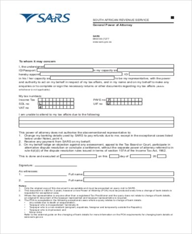 General Power of Attorney Form Samples - 7+ Free Documents in Word - general power of attorney forms