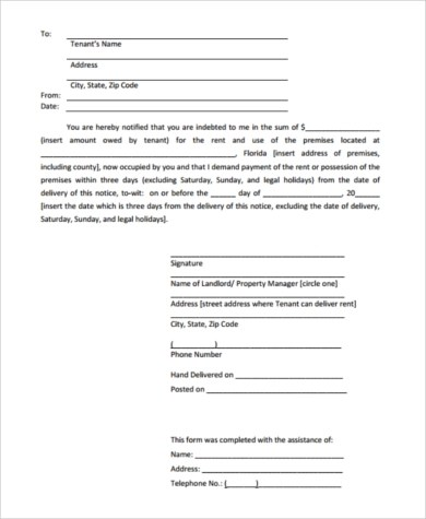 Printable Eviction Notice Form - 7+ Free Documents in Word, PDF