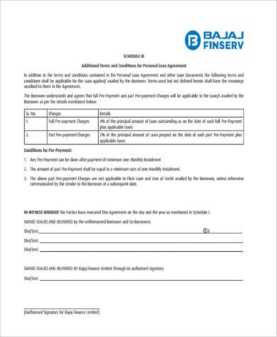 Sample Personal Loan Agreement Forms - 9+ Free Documents in Word, PDF - free personal loan agreement form