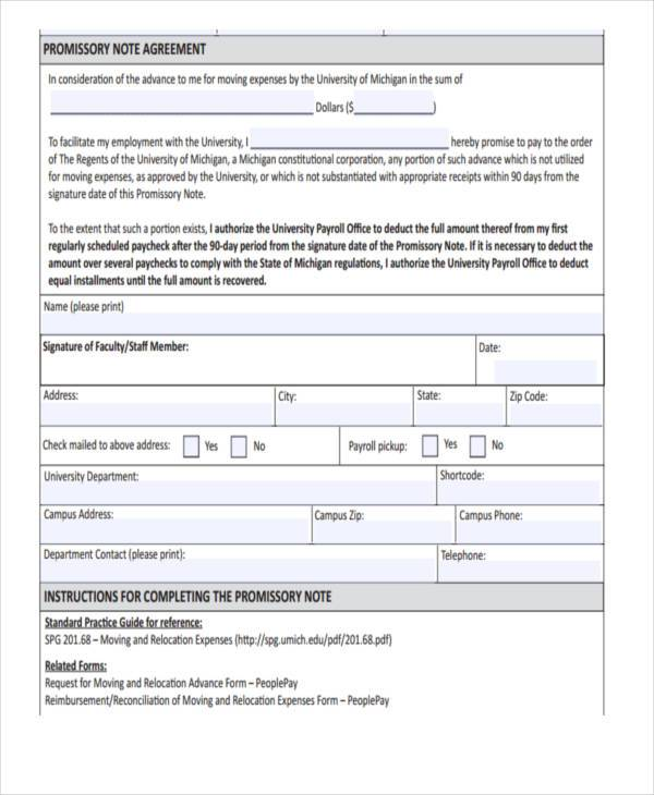 Sample Promissory Note Agreement Forms - 8+ Free Documents in Word, PDF