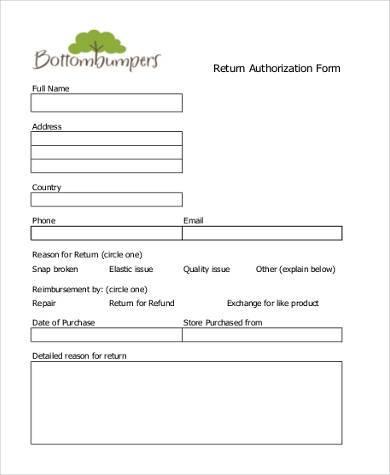 return authorization form template - Ozilalmanoof