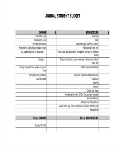 budget form efficiencyexperts - operating budget template