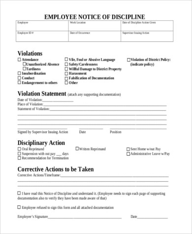 Sample Employee Forms - 8+ Free Documents in Word, PDF