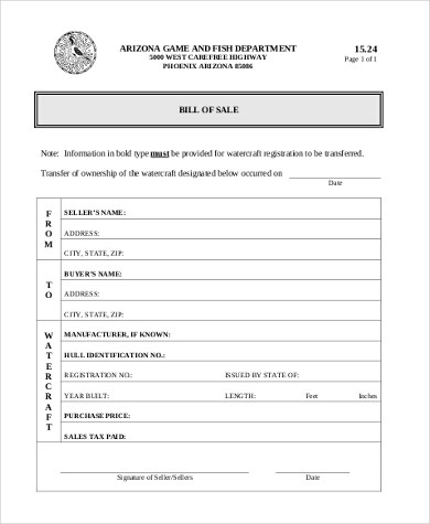 General Bill of Sale Form Sample - 8+ Free Documents in PDF - bill of sale form in pdf