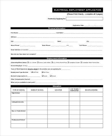 8+ General Employment Application Samples - Free Documents in PDF - Generic Application For Employment