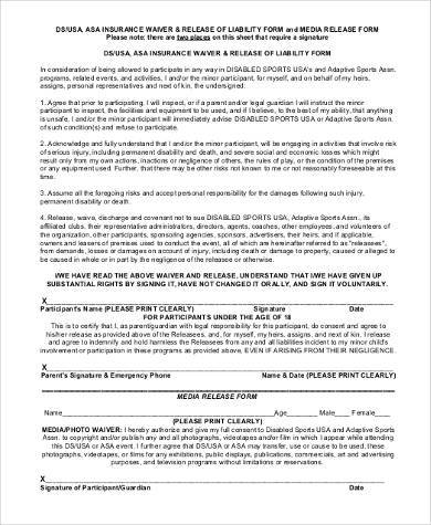 General Liability Release Form Samples - 8+ Free Documents in PDF - free release of liability form