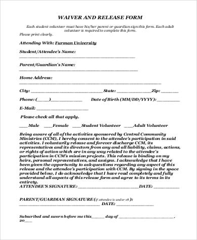 General Release Forms oakandale