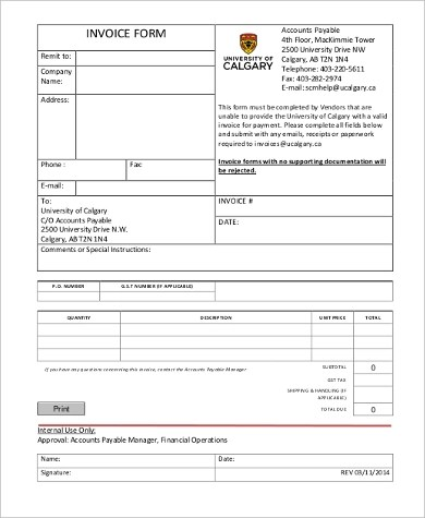 Sample Generic Invoice Form - 9+ Free Documents in Word, PDF - generic invoice