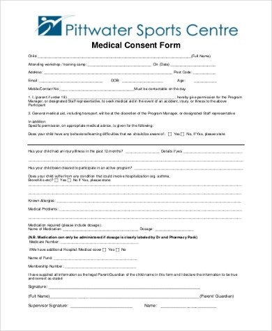 Sample Child Medical Consent Form - 6+ Free Documents in Word, PDF - sample child medical consent form