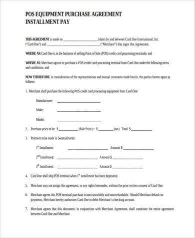 Sample Generic Purchase Agreement Forms - 8+ Free Documents in Word, PDF