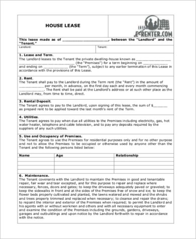 Sample Home Rental Agreement Form   10+ Free Documents In Word, ...