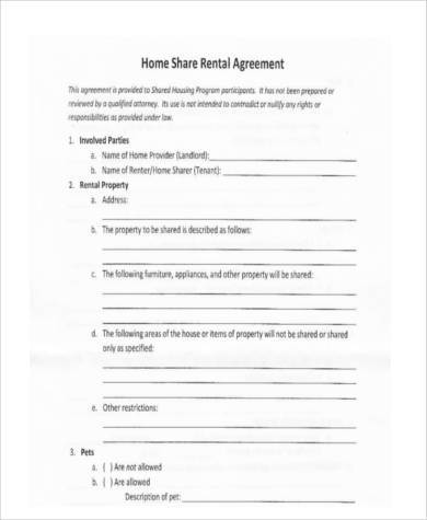 Sample Rental Agreement Formats - 9+ Free Documents in Word, PDF - agreement format