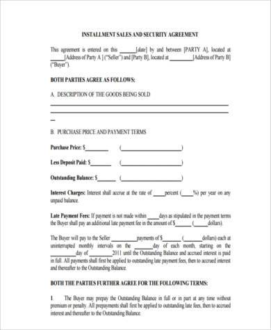 Installment Agreement Form Samples - 8+ Free Documents in Word, PDF