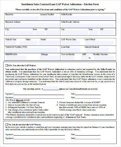 Sample Installment Contract Forms - 9+ Free Documents in Word, PDF - installment sales contract