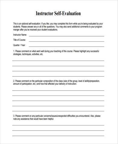 Instructor Evaluation Form ophion