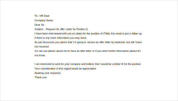 Sample Job Offer Letter - 8+ Free Documents in Word, PDf