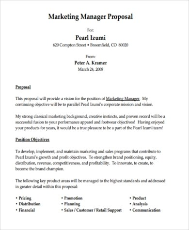 Job Proposal Sample - 8+ Free Documents in Word, PDF - work proposal