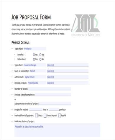 Job Proposal Pdf Job Internship Proposal Letter Pdf Proposal Letter