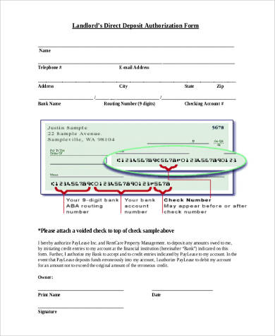 Direct Deposit Authorization Form Samples - 8+ Free Documents in