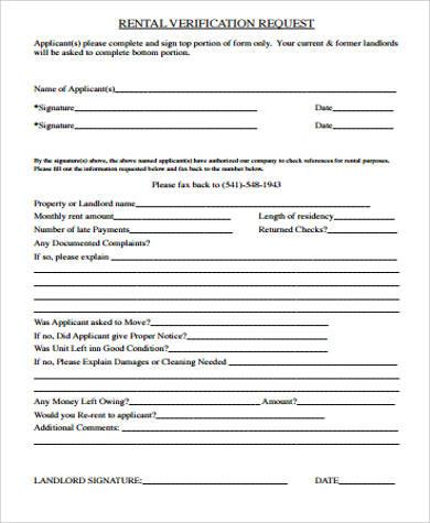 previous landlord verification form - Patrofiveloclub
