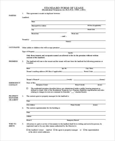 Tenant Lease Agreement Samples - 9+ Free Documents in Word, PDF - tenant lease agreement