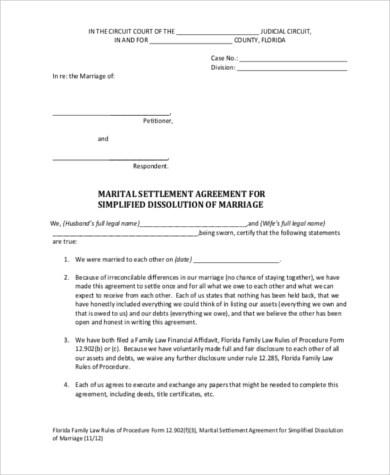 Sample Separation Agreement Forms - 8+ Free Documents in PDF