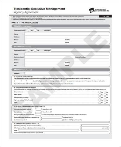 Management Agreement Samples - 9+ Free Documents in Word, PDF - management agreement