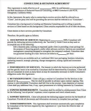 8+ Consulting Sample Agreement Forms - Free Sample, Example - business consultant agreement