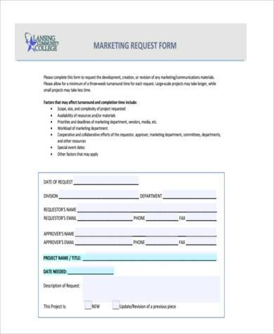 Sample Marketing Budget Forms - 7+ Free Documents in Word, PDF - budget request form
