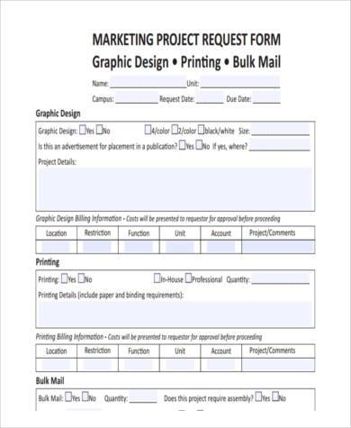 Sample Project Request Forms - 8+ Free Documents in Word, PDF - request form