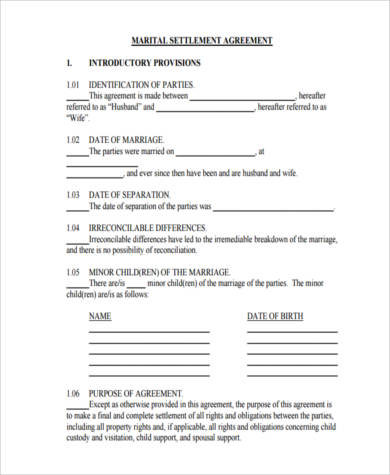 Sample Settlement Agreement Forms - 9+ Free Documents in Word, PDF - settlement agreement template