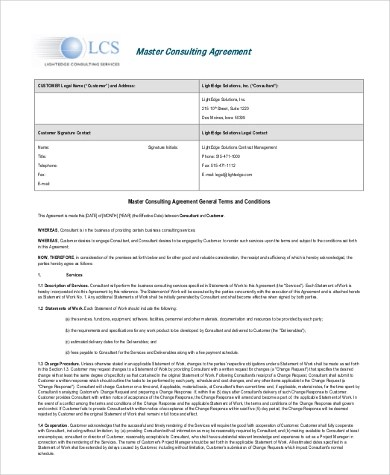 Consultant Agreement Form Samples - 9+ Free Documents in Word, PDF - consulting agreement