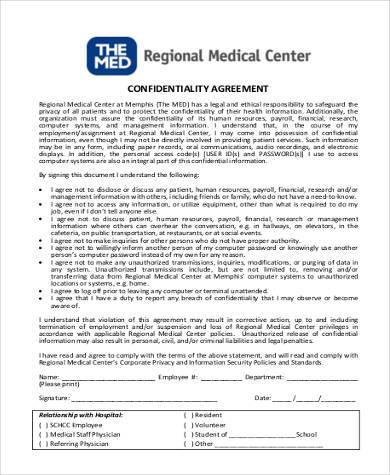Confidentiality Agreement Form Samples - 9+ Free Documents in Word, PDF