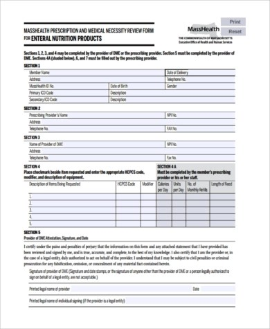 Sample Medical Necessity Form - 7+ Free Documents in PDF
