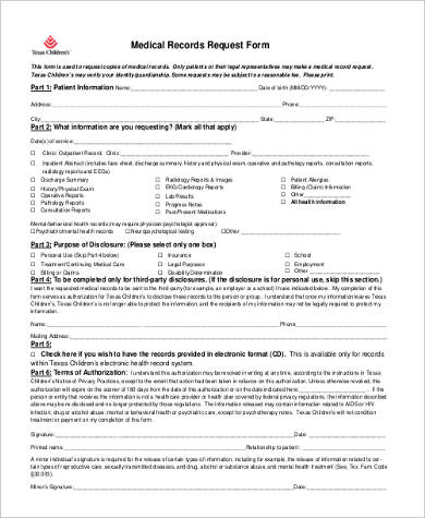 Medical Records Request Forms Generic Medical Records Release - medical records release forms