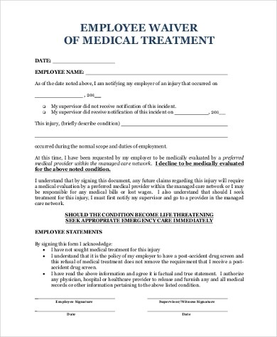 Medical Waiver Form Samples - 9+ Free Documents in Word, PDF - sample medical waiver form