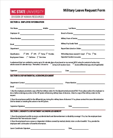 Leave Request Form Sample - 10+ Free Documents in Word, PDF - sample leave request form
