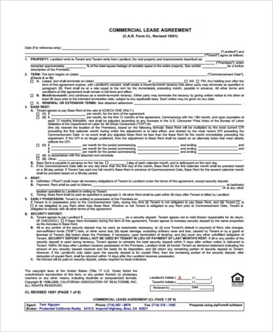 Month to Month Lease Form Sample - 7+ Free Documents in Word, PDF