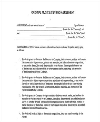 Sample License Agreement Forms - 7+ Free Documents in Word, PDF - sample licensing agreement