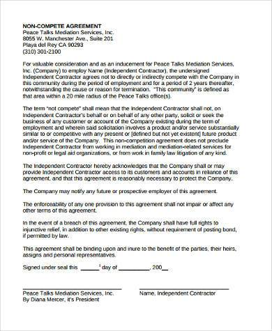 Mediation Agreement Template Roomate Agreement Template Sample