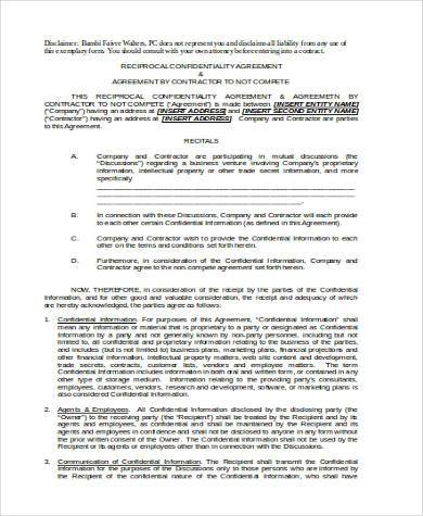 Sample Non Compete Agreement Forms - 8+ Free Documents in Word, PDF