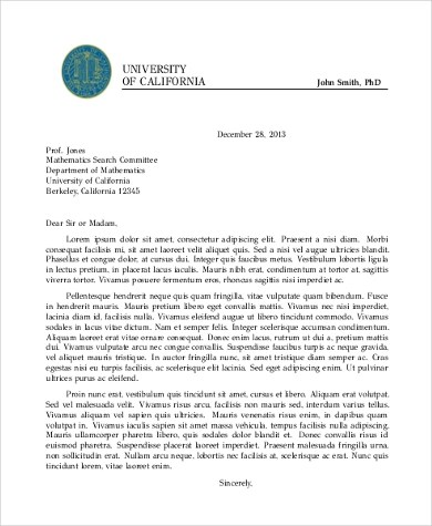Formal Letter Sample - 8+ Free Documents in Word, PDF
