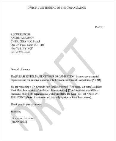 Letterhead Example - 7+ Free Documents in Word, PDF - official letterhead