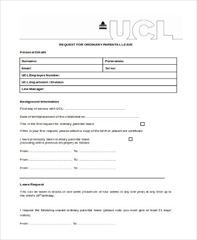 Request For Leave Form Template. Tenant Move Out Notice – Vacating